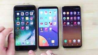 S8, iPhone 7 Plus ve LG G6 Hız Testi! (Amiral Gemileri Aynı Masada!)