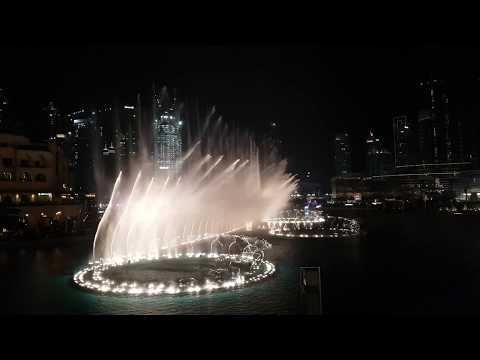 Fountain Show Dubai Mall World's largest dancing fountain Show FULL HD