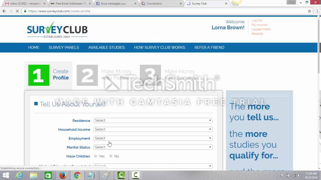 How To Successfully Register With The Survey Club  http://PaidStudies online