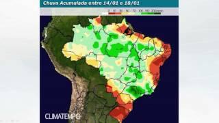 Previsão de chuva no BR até 23/1/17