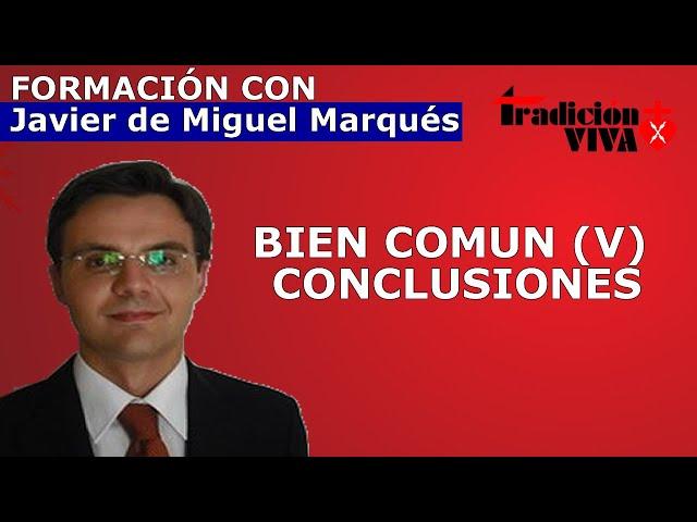 BIEN COMUN (V). Conclusiones