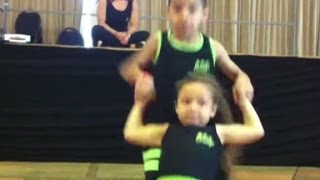 Pint-sized salsa dancers tear it up
