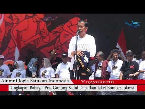 Jokowi Lempar Jaket - Begini Ungkapan Pria Asal Gunungkidul Dapat Jaket Bomber Jokowi