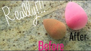 DEEP CLEAN YOUR BEAUTY BLENDER..IN THE MICROWAVE!