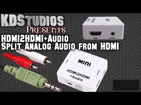 Getting Analog Audio from HDMI - Mini HDMI2HDMI+Audio Extraction / Conversion - How To Tutorial