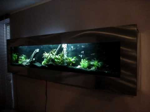 flatscreen aquarium 175cm aquarium aan de muur opgehangen de flataqua 175 youtube. Black Bedroom Furniture Sets. Home Design Ideas