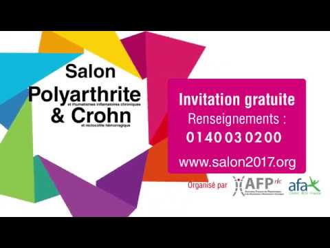 Salon polyarthrite crohn youtube for Salon polyarthrite