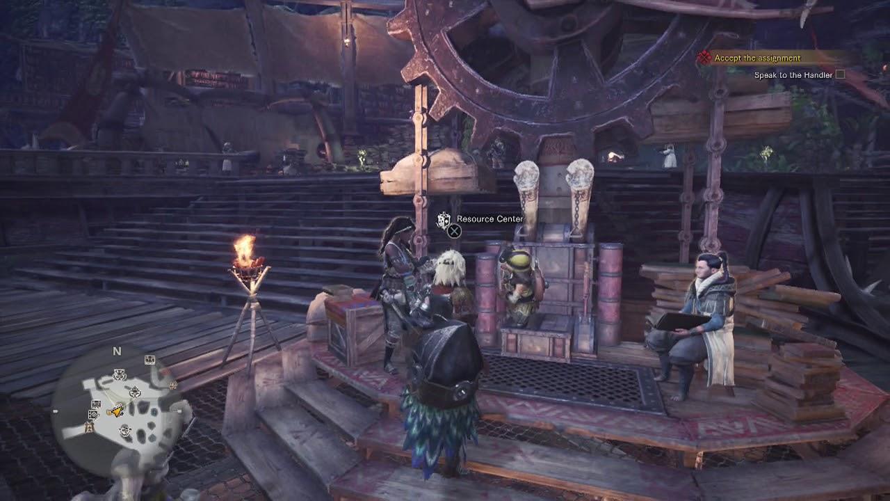 Monster Hunter World Deliver Items at Resource Center Get Ingredients