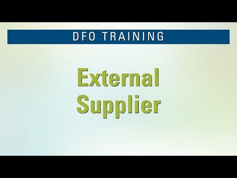 DFO External Supplier