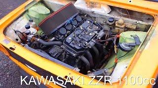 ВАЗ 2101 с двигателем от kawasaki zzr1100cc(Двигатель от мотоцикла Kawasaki. Модель: Kawasaki ZZR 1100 Выпуск: 1990 – 2000 годы Тип двигателя: 4-цилиндровый, 4-тактный..., 2015-10-03T12:24:21.000Z)