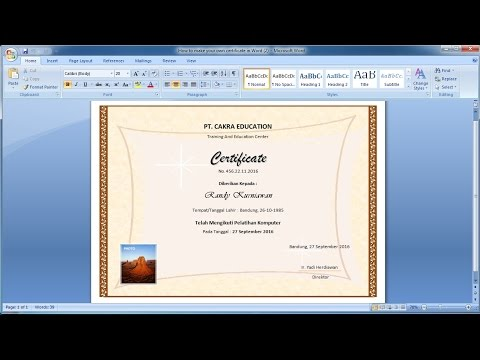 How to make your own certificate in Word (2)Learn ms word easily - how to make certificates in word
