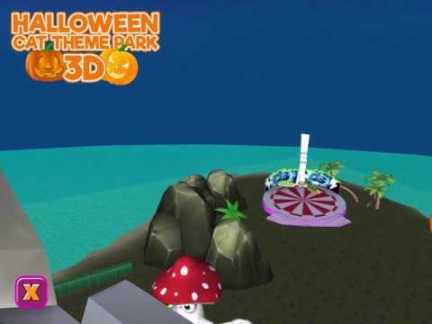halloween cat theme park 3d hack