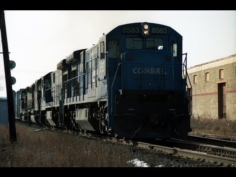 Conrail 6 axles on SENE at Plaistow NH 10/29/1992