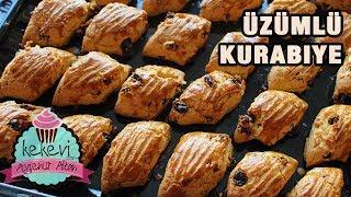 5 Dakikada Üzümlü Pastane Kurabiyesi 🍪 Uzun süre dayanan nefis tatlı kurabiye tarifi