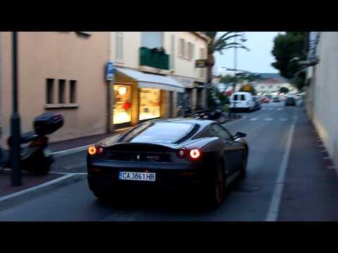 Ferrari 430 Scuderia with golden rims in Saint-Tropez (1080p HD)