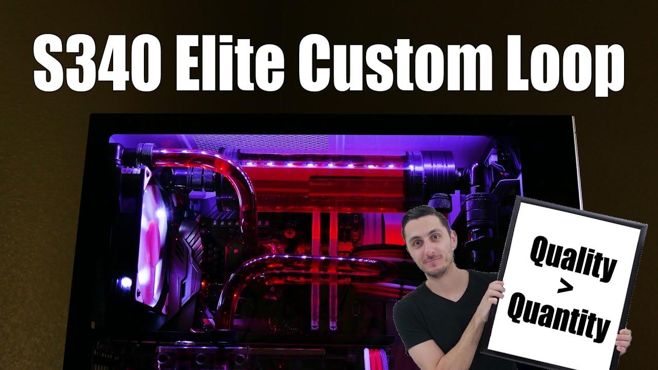 I built a custom loop inside the nzxt s340 elite youtube for Custom elite com
