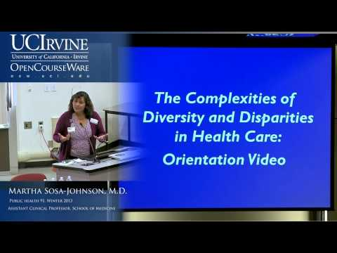 Public Health 91: Disparities In Healthcare. Lecture 1: Introduction to the Course