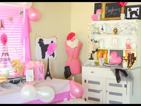 Paris Birthday Themed Party