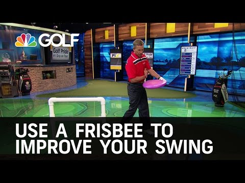 Frisbee Drill to Improve Your Swing | Golf Channel
