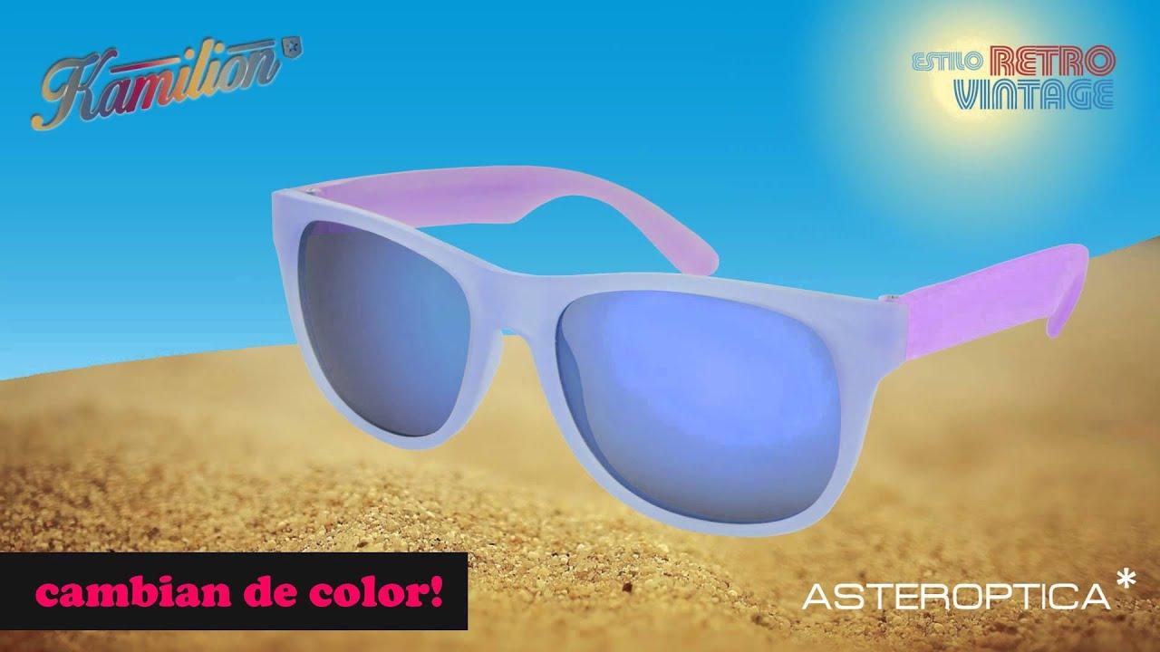 88e1273891 Lentes de Sol Kamilion, cambian de color - Asteroptica - YouTube