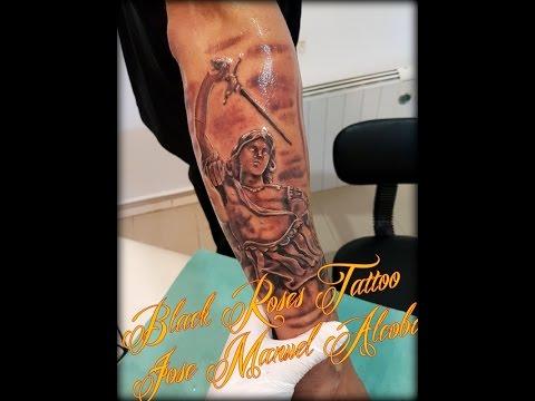 San Miguel Arcángel By José Manuel Alcoba Black Roses Tattoo Youtube