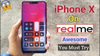 How to Get iPhone X on RealMe Devices (Awesome Trick) iPhone X Launcher in RealMe