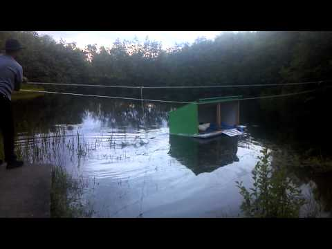 Floating duck and goose house youtube for Duck and goose houses