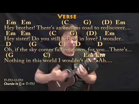 Hey Brother (Avicii) Ukulele Cover Lesson With Chords/Lyrics - Capo 3rd