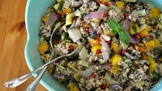 Roasted Vegetable Rainbow Quinoa Salad