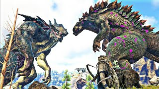 Download Video NOVO GODZILLA 2014 VS KINGTITAN + ICETITAN + DINOSSAUROS MUTANTES! ARK SURVIVAL EVOLVED (PT/BR) MP3 3GP MP4