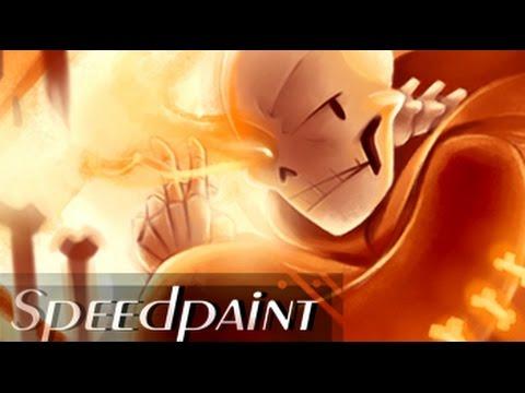 Underswap Papyrus SPEEDPAINT (Underswap AU) - One Angry Carrot