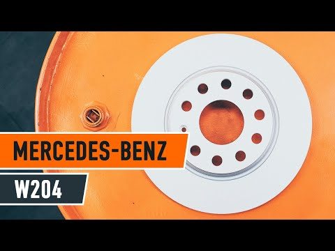 How to replace rear brake discs and brake pads MERCEDES-BENZ C W204 TUTORIAL | AUTODOC