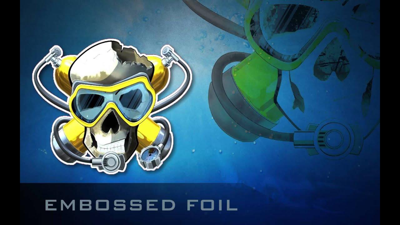 Diver hunter CS:GO Sticker: Embossed Foil sticker