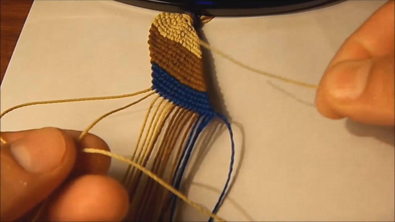 ee56e9b5e02b Como hacer la pulsera franja diagonal basica
