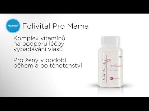 Vitaminy proti vypadávání vlasů během a po těhotenství - Folivital Pro Mama