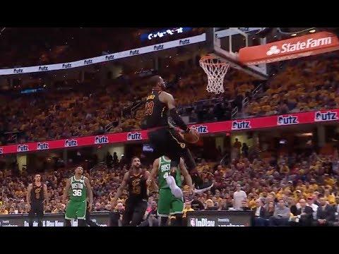 LeBron James Throws Down Nasty Reverse Dunk vs. Celtics
