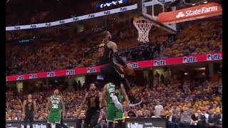 LeBron James Throws Down Nasty Reverse Dunk vs. Celtics