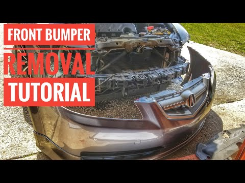 HOW TO REMOVE OR REPLACE 2004-2008  ACURA TL FRONT BUMPER WITH OR WITHOUT ASPEC KIT  TUTORIAL
