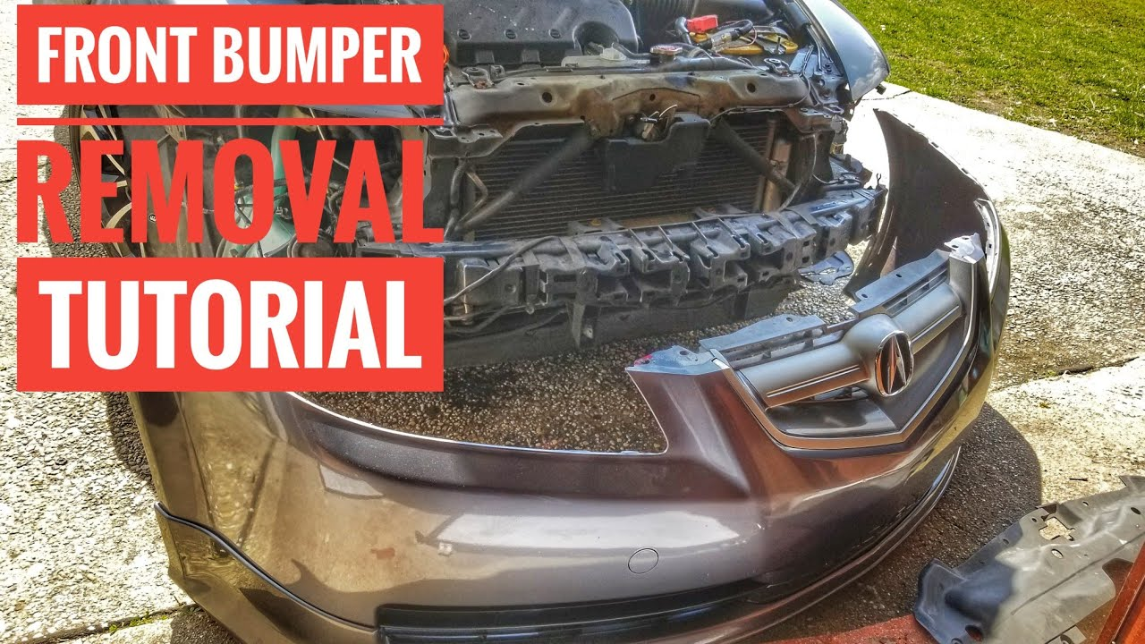 HOW TO REMOVE OR REPLACE ACURA TL FRONT BUMPER WITH OR WITHOUT ASPEC - Acura tl bumper