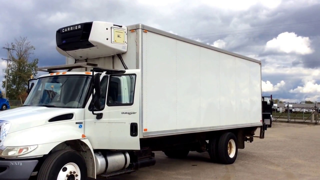 2010 24' Box Truck van body with Carrier Supra 750 Reefer Unit | For Sale |  Online Auction