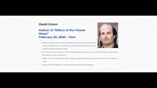 """Killers of the Flower Moon"" author to speak in OKC"