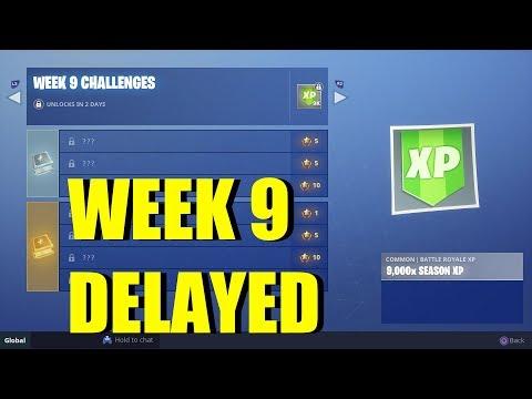 FORTNITE SEASON 5 WEEK 9 CHALLENGES DELAYED! Season 6 Delayed!  (Where Are Week 9 CHALLENGES)