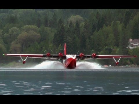"Martin JRM Mars ""Hawaii Mars"" Water Bomber Approach and Landing."
