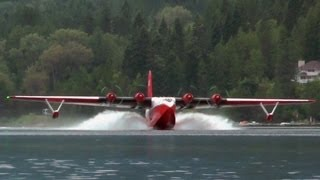 "Martin JRM Mars ""Hawaii Mars"" Water Bomber Approach and Landing."