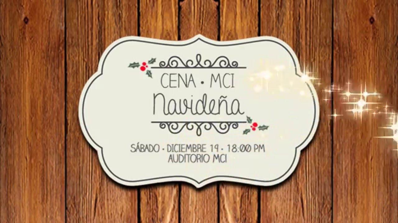 Invitacion Cena Navideña Mci 2015