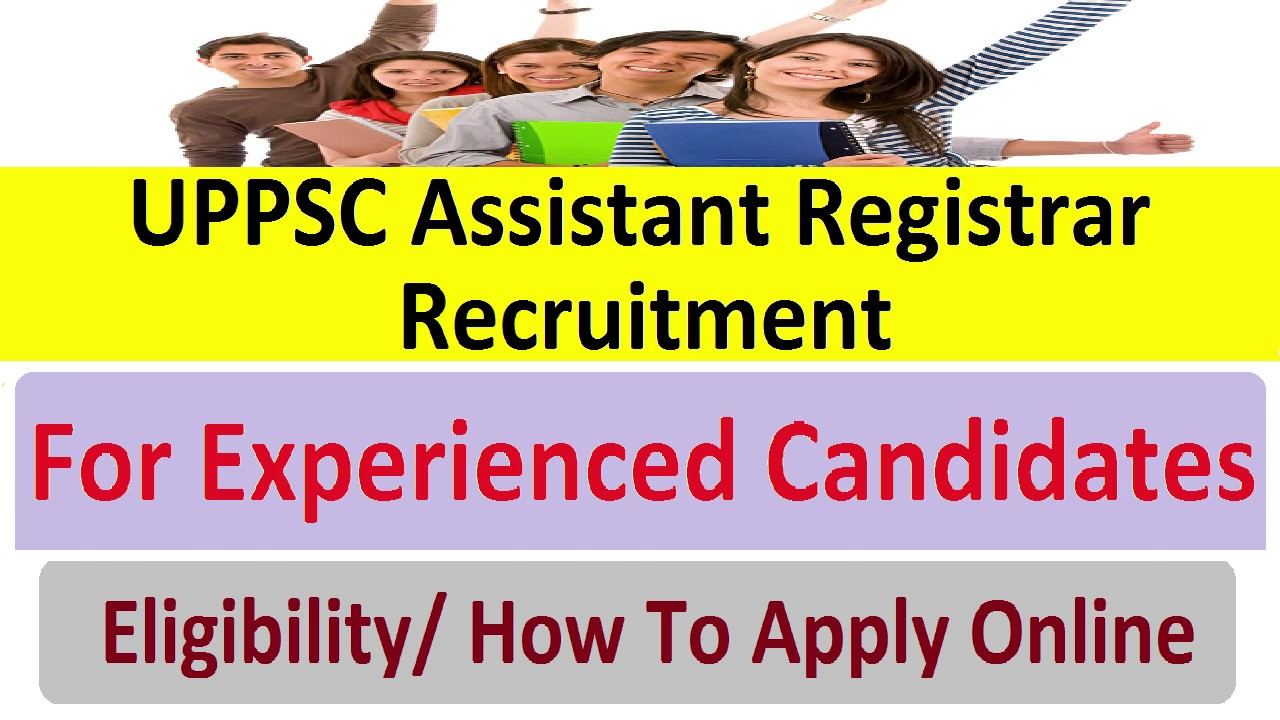 Uppsc Assistant Registrar Jobs Vacancy 2018 19 सह यक