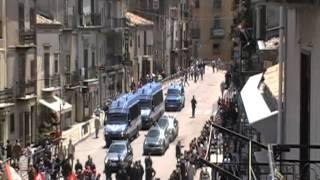 funerali di Placido Rizzotto a Corleone con Giorgio Napolitano.MOD