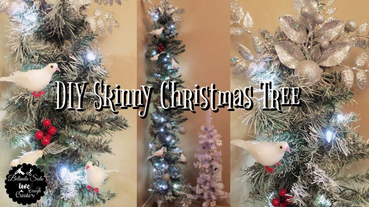 DIY Dollar Tree Snow White Christmas Tree