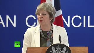 LIVE: Theresa May holds briefing at EU summit in Brussels