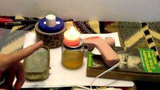 How To Make Candle Powered Glue Gun & Hot Glue Tips Cool Prepper Survival Craft Idea